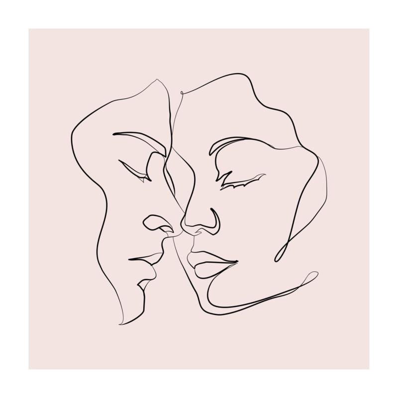 Vierkant 'Verliefd stelletje'