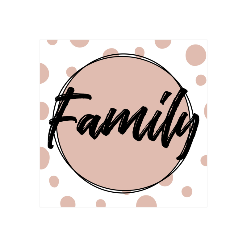 Vierkant 'Family'