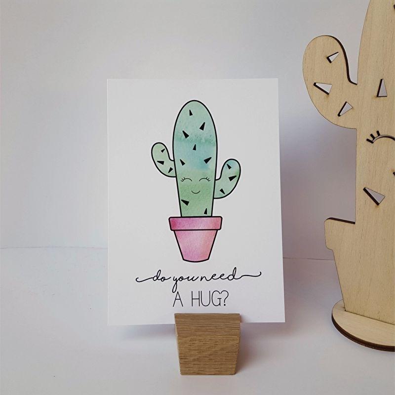 Postkaart / Interieurkaart 'Do you need a hug?'