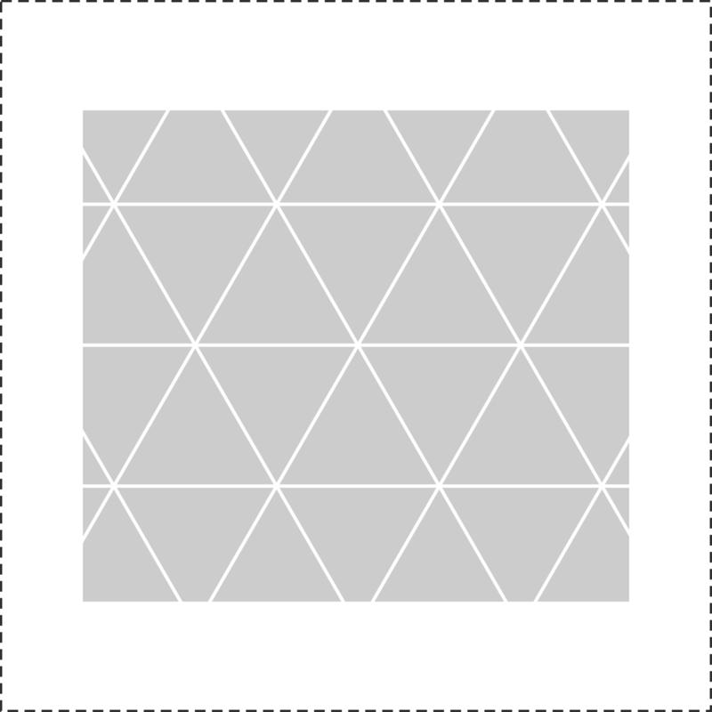 Glasfoliesticker Geometrische driehoekjes- band