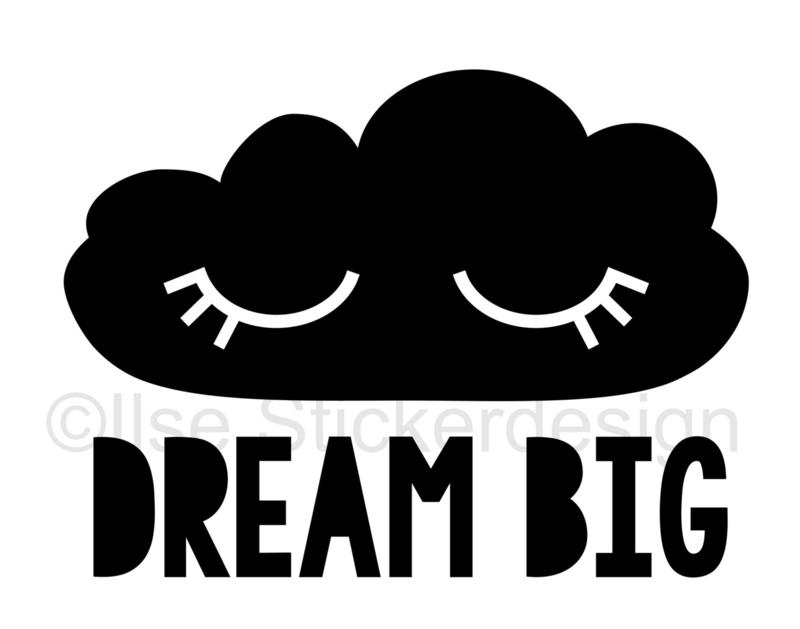 Tekststicker Dream Big gratis bij besteding vanaf € 15,-