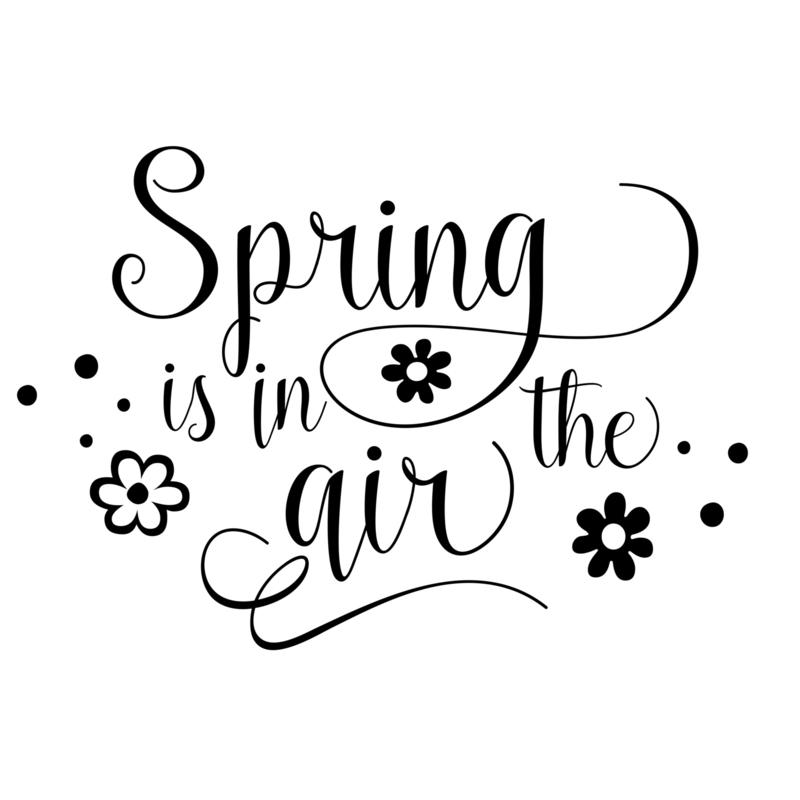 Tekststicker 'Spring is in the Air'
