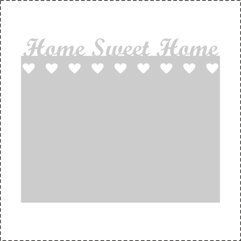 Glasfoliesticker Home sweet Home - band