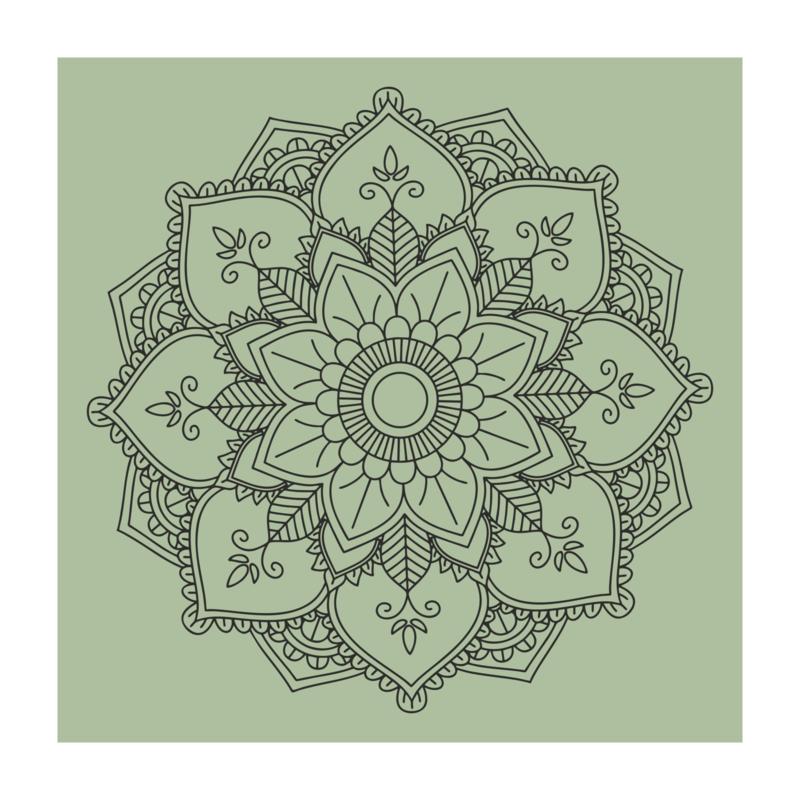 Vierkant 'Mandala - gecentreerd'