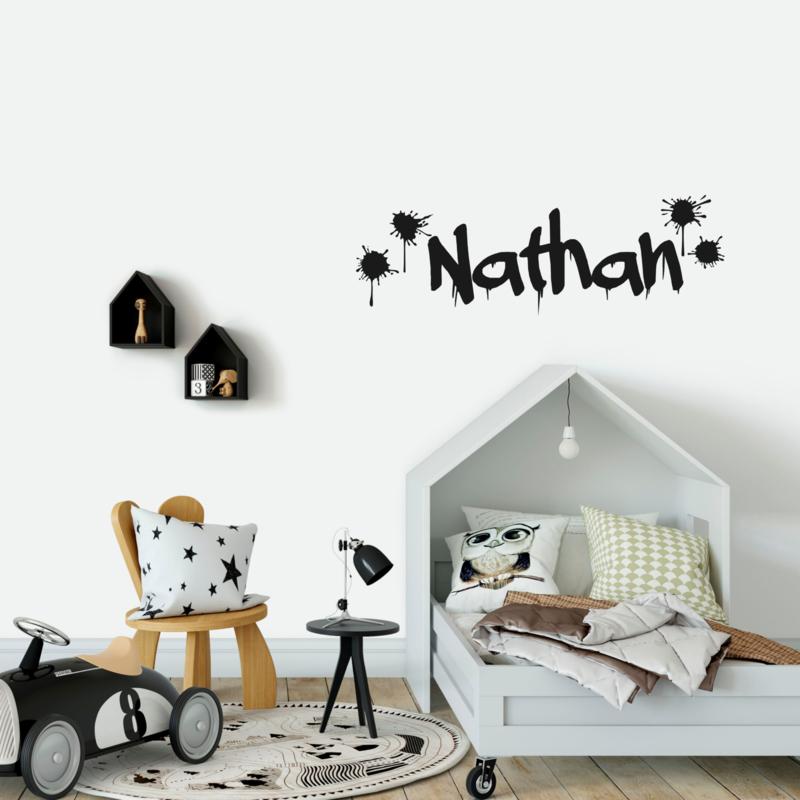 Naamsticker 'Graffiti'