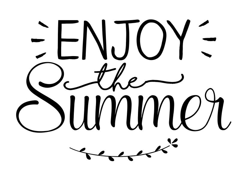 Tekststicker 'Enjoy the summer' - small