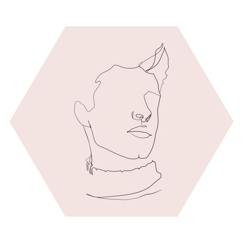 Zeshoek 'Portret man'