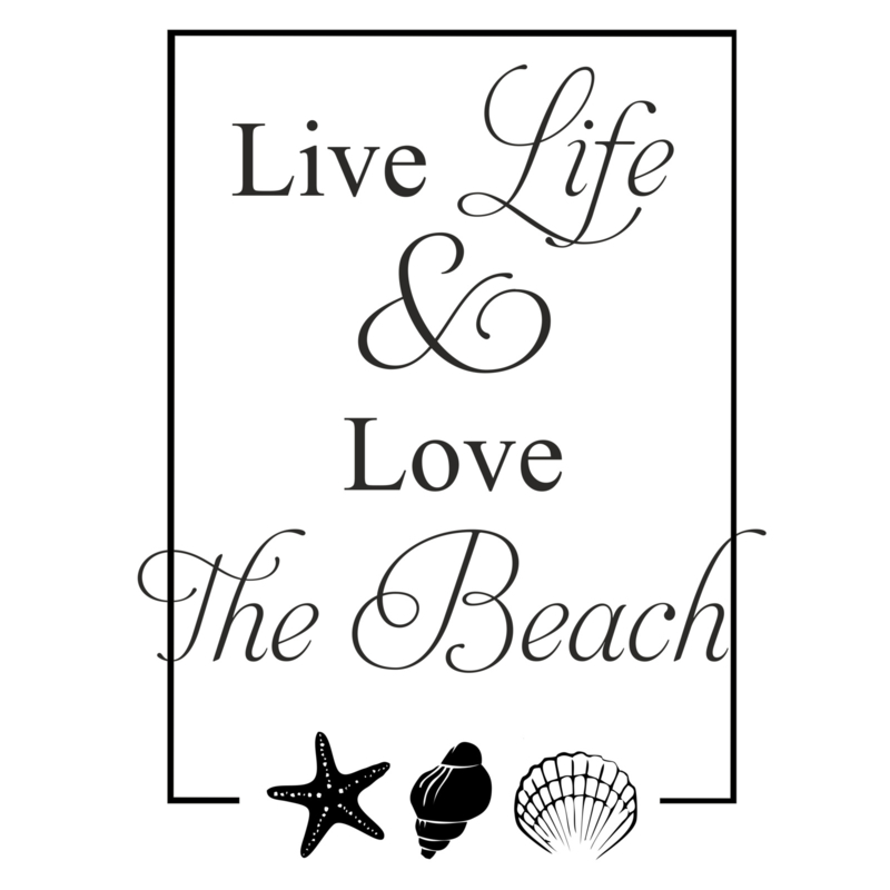 Live life & love the beach - small