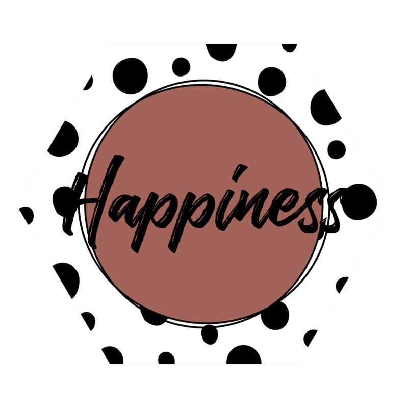 Zeshoek 'Happiness'