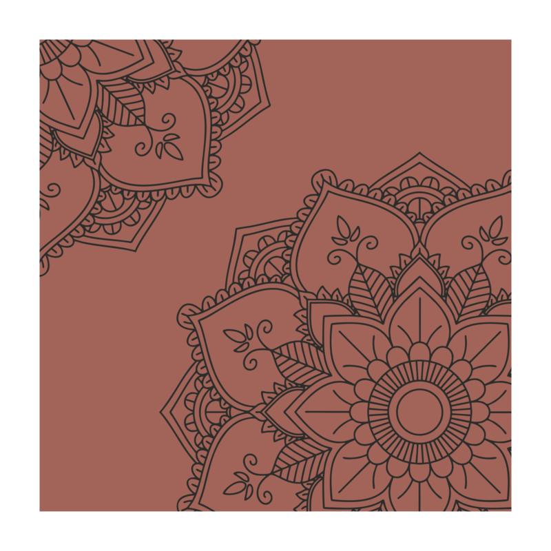 Vierkant 'Mandala - hoeken'