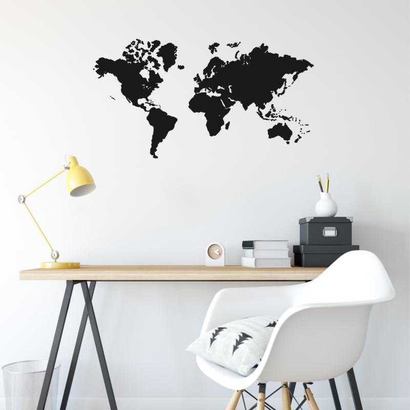 Afbeeldingsticker Wereldkaart