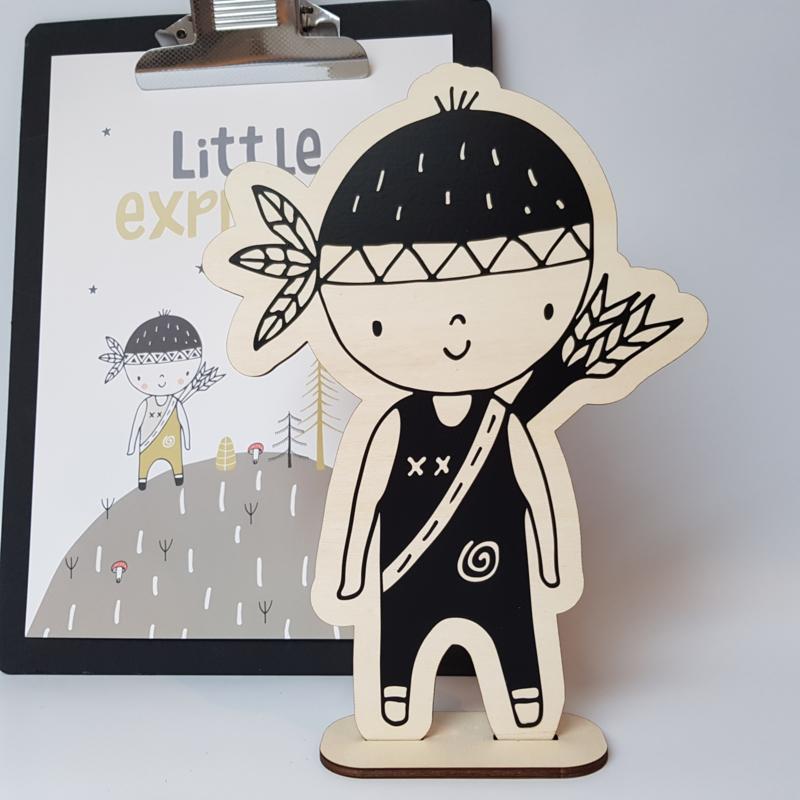 Houten jongen 'Little Explorer'