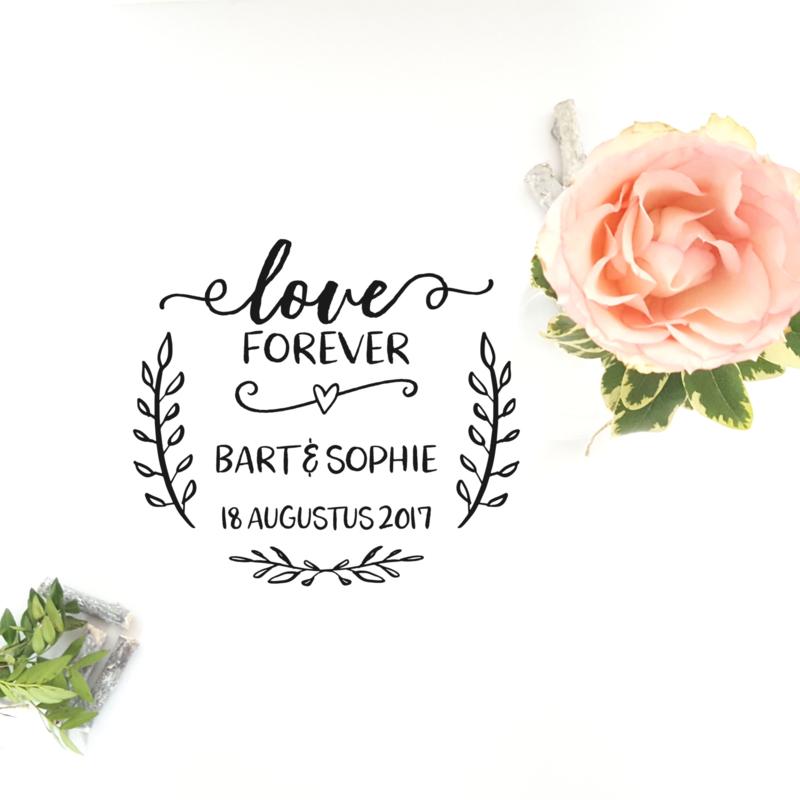 Label  Love Forever - met eigen namen