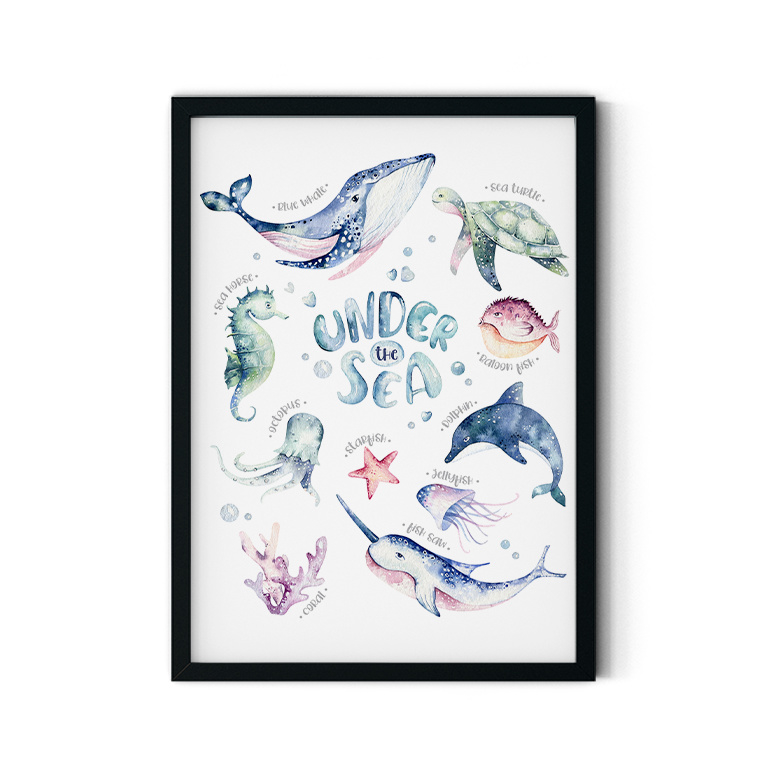 Poster 'Onderwaterdieren'