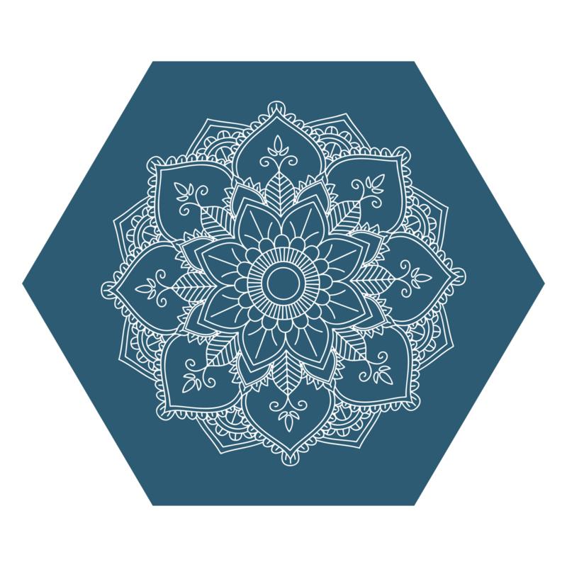 Zeshoek 'Mandala - gecentreerd'