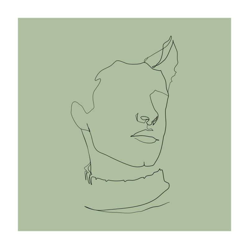 Vierkant 'Portret man'
