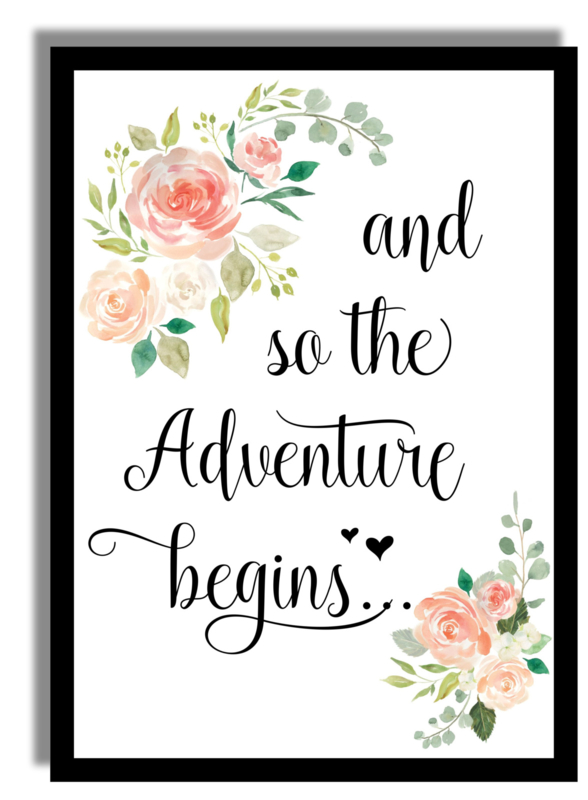Poster 'And so the Adventure begins'