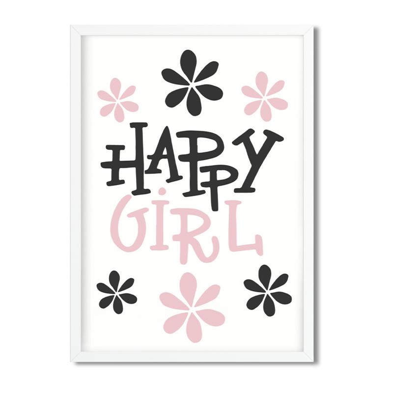Postkaart / Interieurkaart 'Happy Girl'