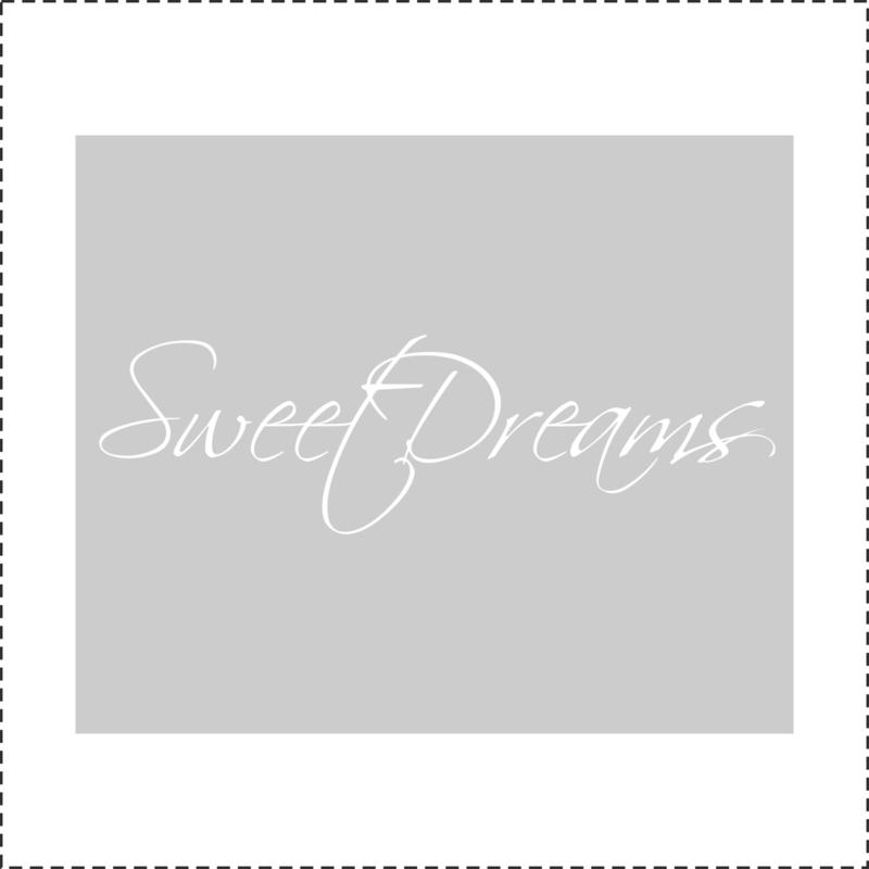 Glasfoliesticker Sweet Dreams - band