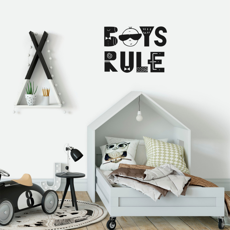 Muursticker 'Boys Rule'