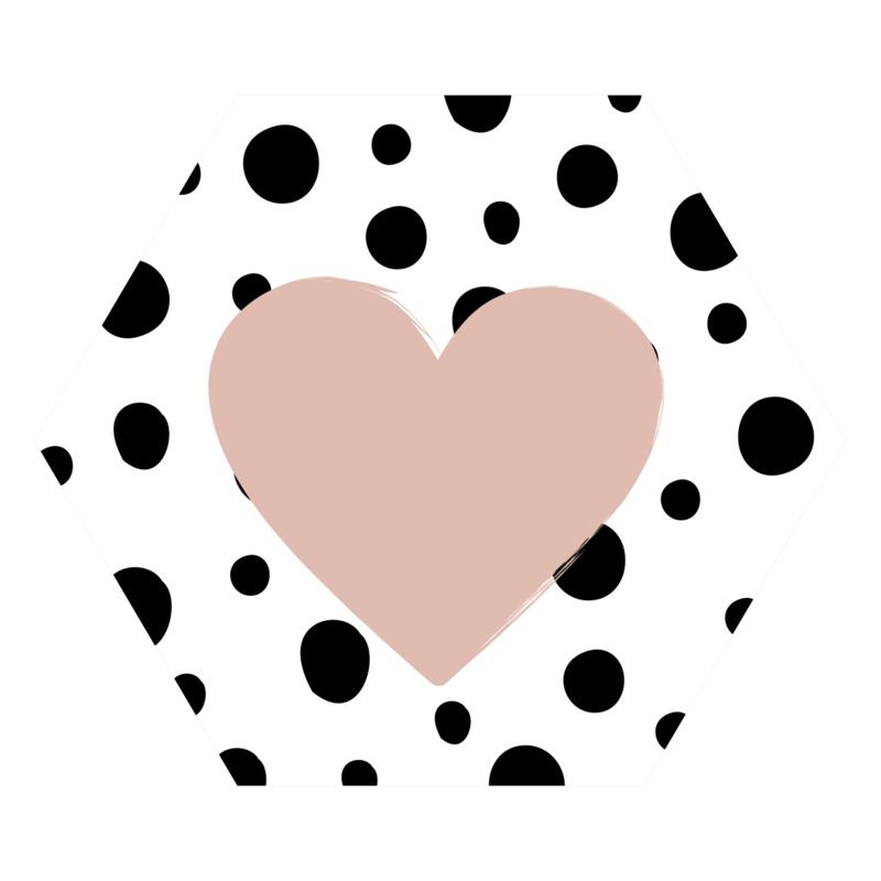 Zeshoek 'Hartje met Dots'
