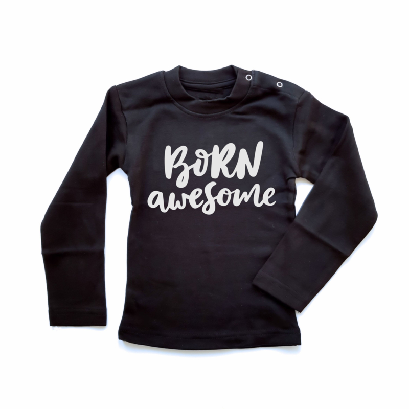 T-shirt Born Awesome