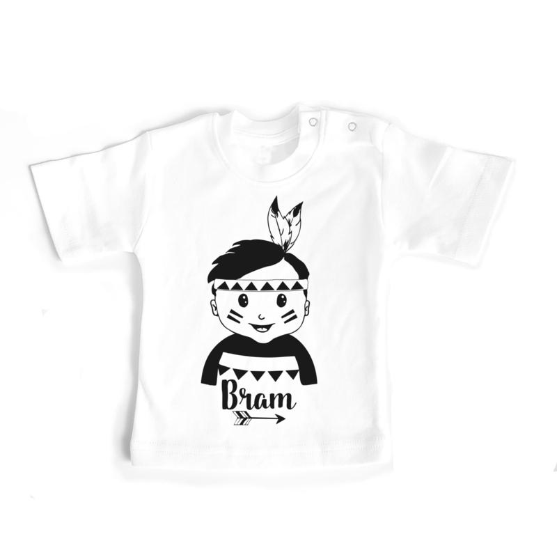T-shirt Indianenjongetje met naam