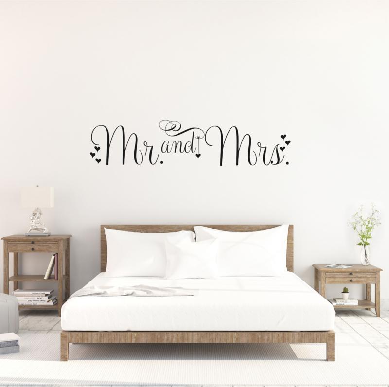 Muursticker Mr. and Mrs.