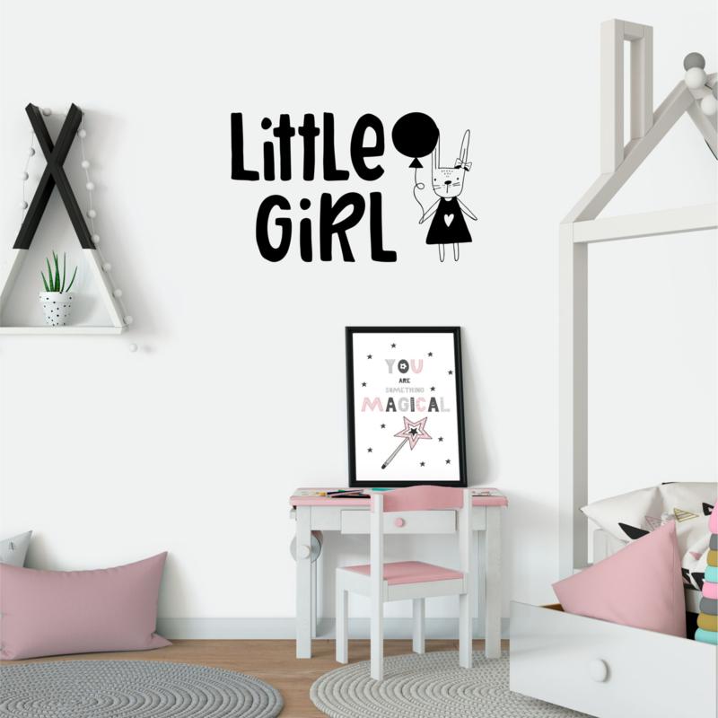 Muursticker 'Little girl'