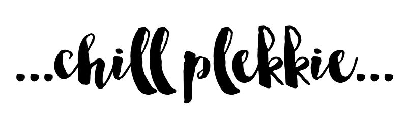 Tekststicker 'Chill plekkie'