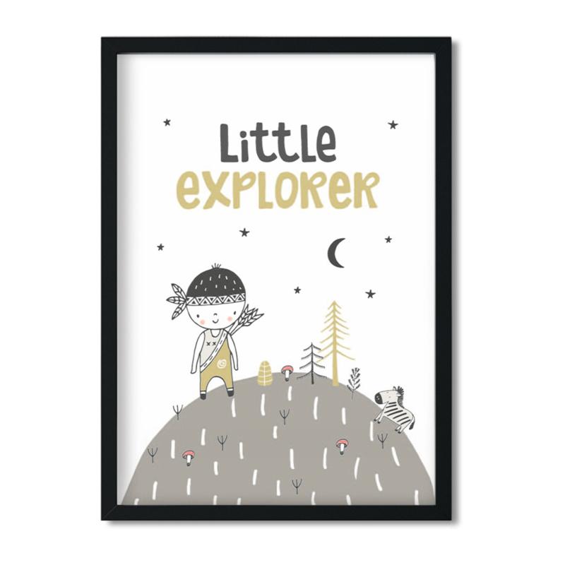 Poster 'Little Explorer - boys'