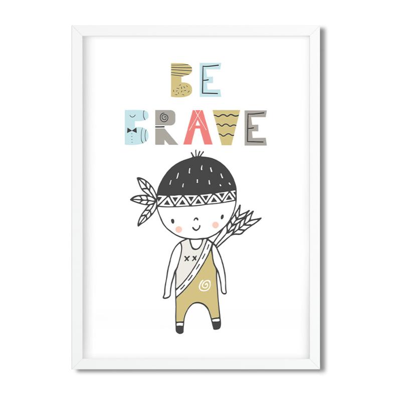 Postkaart / Interieurkaart 'Be Brave'