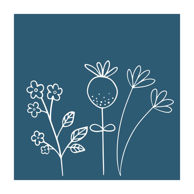 Vierkant 'Veldbloemen 3'