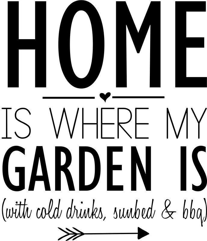 Muursticker 'Home is where my garden is'