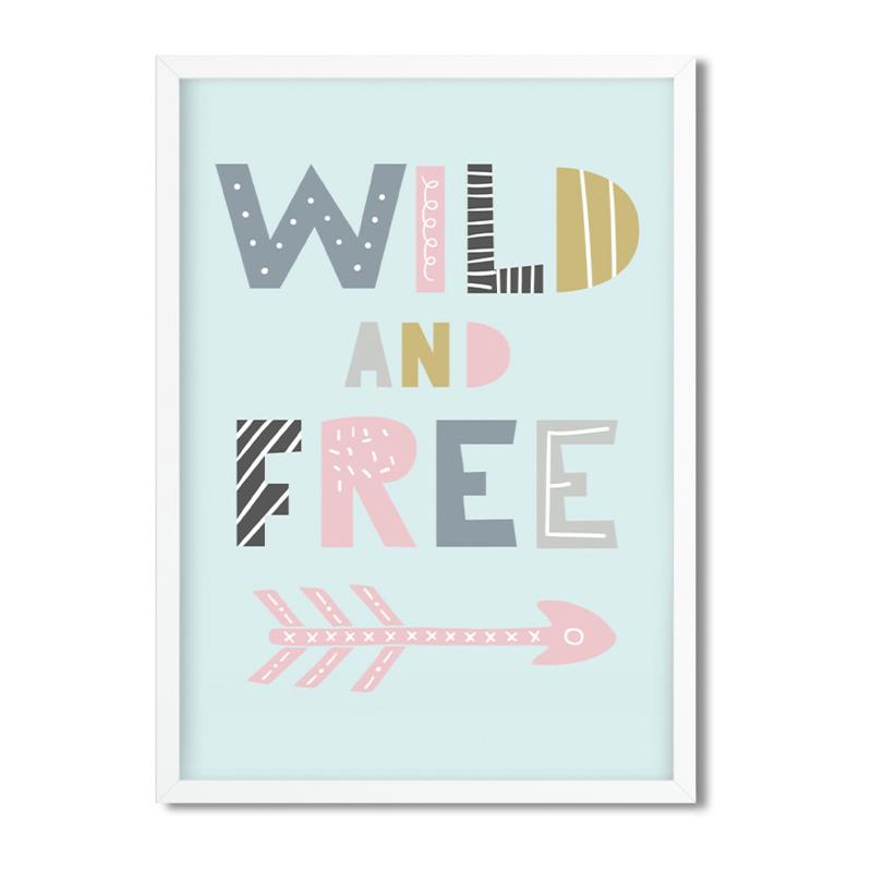 Postkaart / Interieurkaart 'Wild and Free'