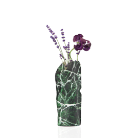 Tiny Miracles Paper Vase Cover green marble