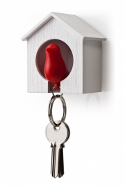 Qualy sparrow keyholder rood