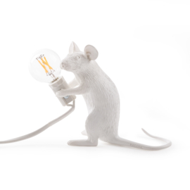 Mouse lamp sitting wit