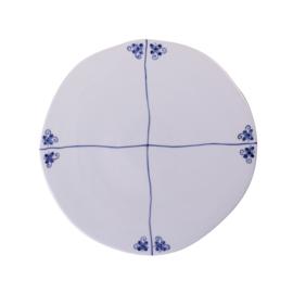 Heinen Delfts Blauw Ontbijtbord Hollandse tegel