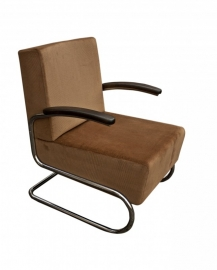 Chroombuis fauteuil laag