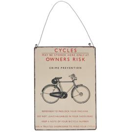 Rex London metal sign vintage bicycle