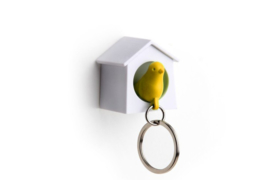 Qualy mini sparrow keyring oranje
