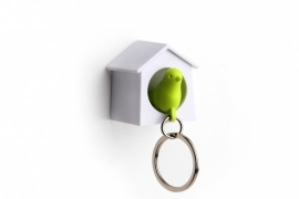 mini sparrow keyring groen