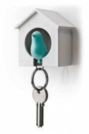 Qualy sparrow keyholder blauw