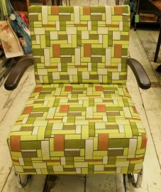 Chroombuis fauteuil laag Retro