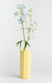 Porcelain bottle vase #10 fresh yellow