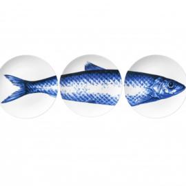 Heinen Delfts Blauw borden met vis (3)