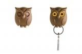 Qualy owl keyholder brown