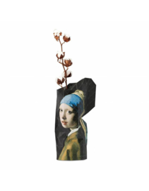 Paper Vase Cover girl with pearl earring