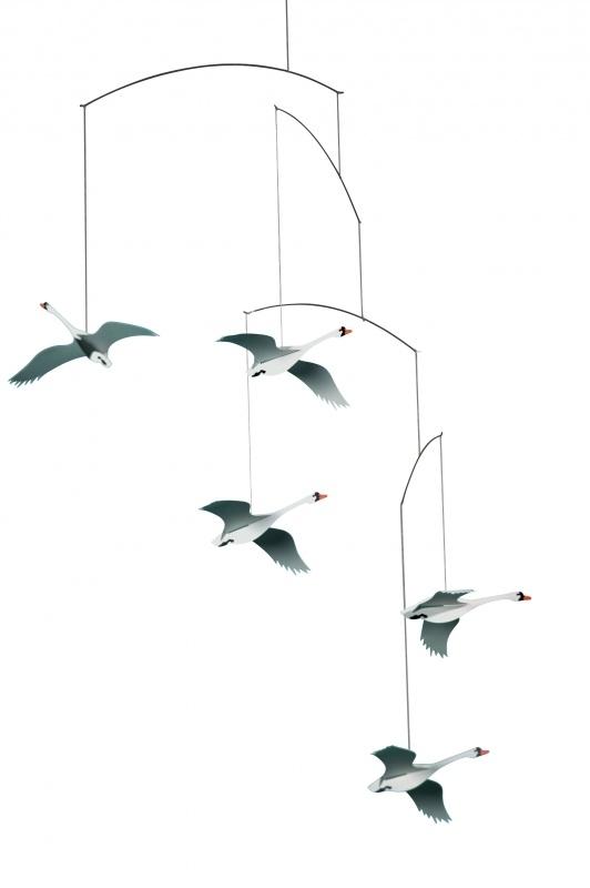 Scandinavian Swans Mobile